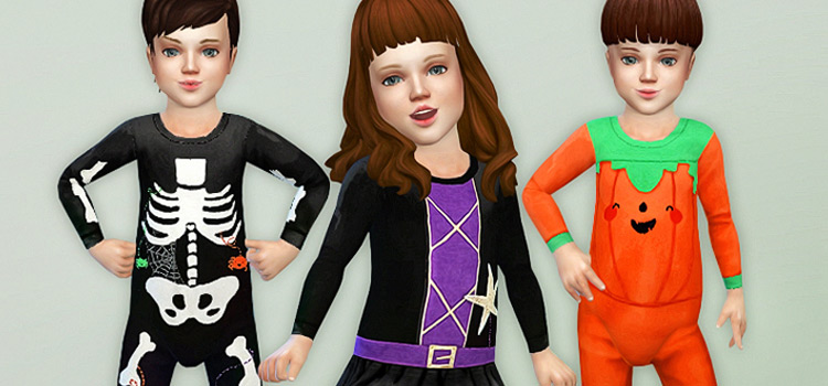 Toddler Halloween Costumes for The Sims 4