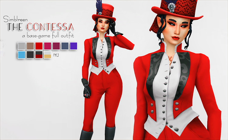 Contessa Outfit for The Sims 4