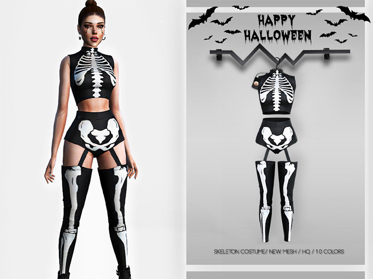 Skeleton Costume / Sims 4 CC
