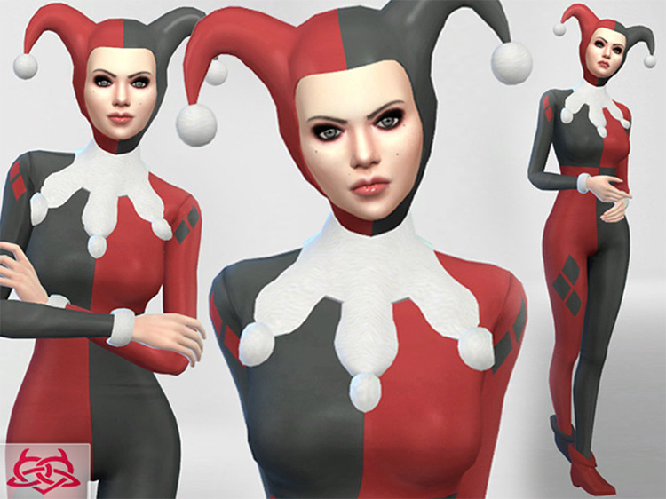 Harley Quinn Outfit Set / TS4 CC