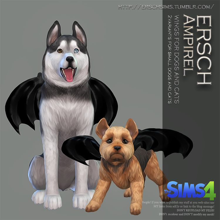 Ampirel Wings for Pets for The Sims 4