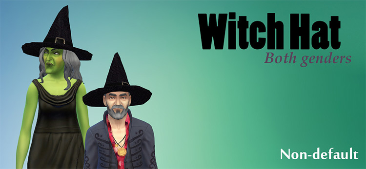 Witch Hat Outfits / Sims 4 CC