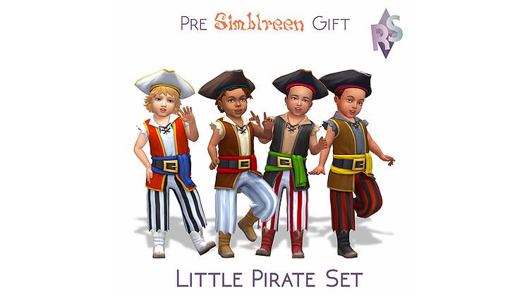 Little Pirate Costume Set / TS4 CC