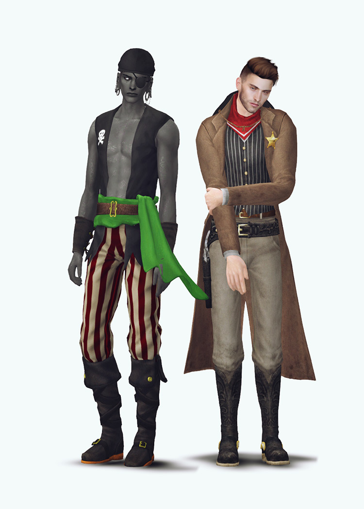 Halloween Costume Set for The Sims 4