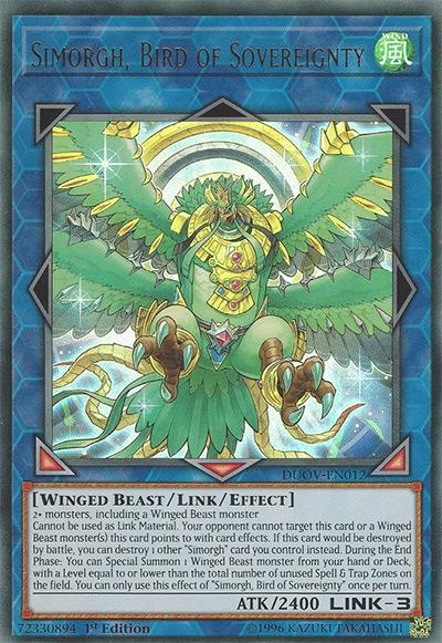 Simorgh Bird Of Sovereignty YGO Card