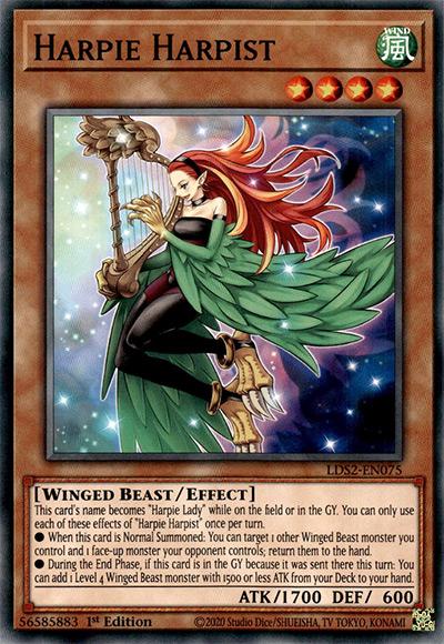 Harpie Harpist Yu-Gi-Oh Card
