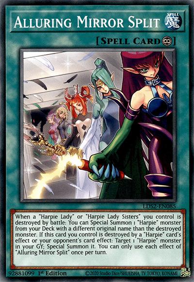 Alluring Mirror Split YGO Card