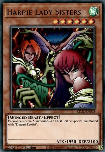 Harpie Lady Sisters Yu-Gi-Oh Card