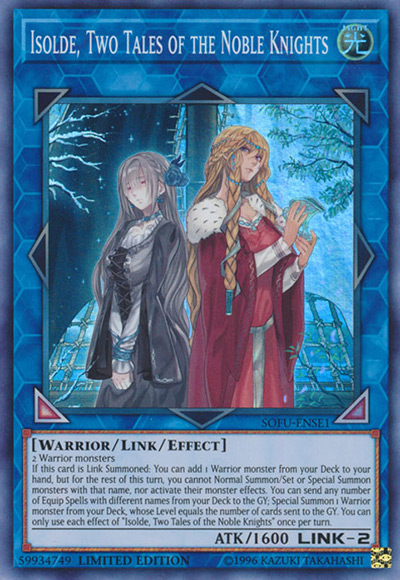 Isolde, Two Tales of the Noble Knights YGO Card