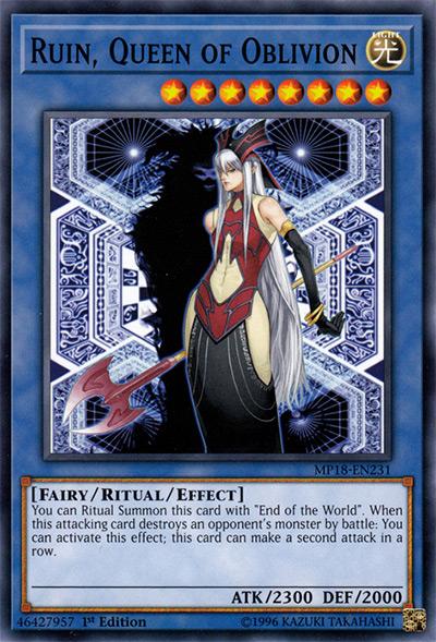 Ruin, Queen of Oblivion YGO Card