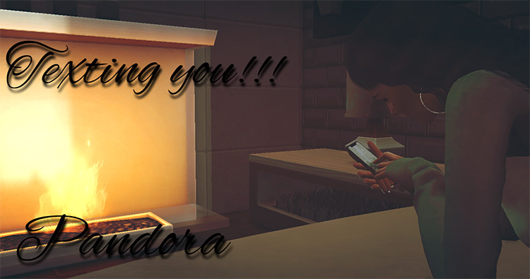 Texting You Bed Poses for TS4