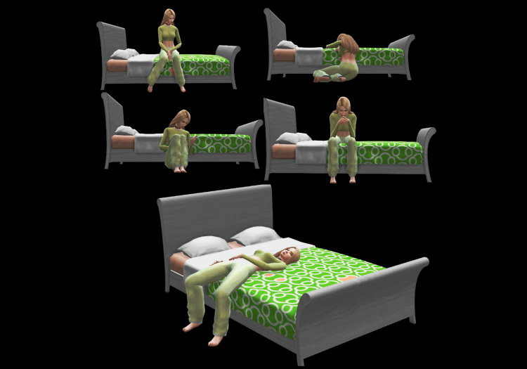 """Poses in the Bed """"I'm Tired"""" by MaryGelal for The Sims 4"""