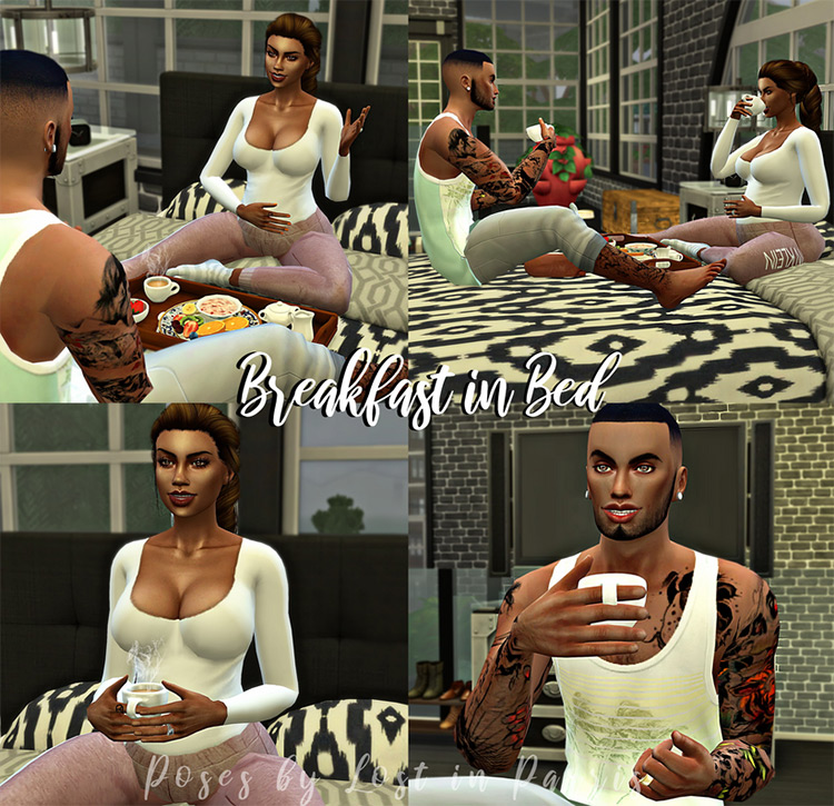 Breakfast in Bed by Lost in Parris for The Sims 4