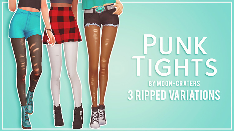 Punk Tights CC for Sims 4