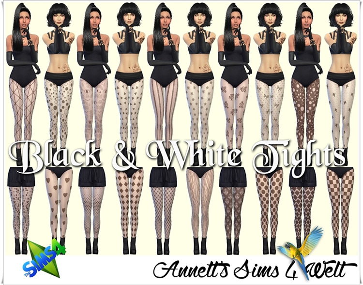 Black and White Tights / TS4 CC