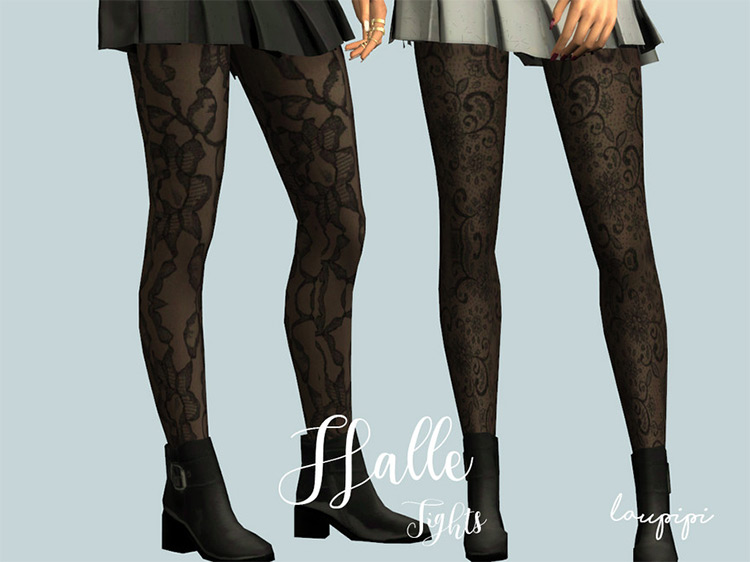 Halle Tights for The Sims 4