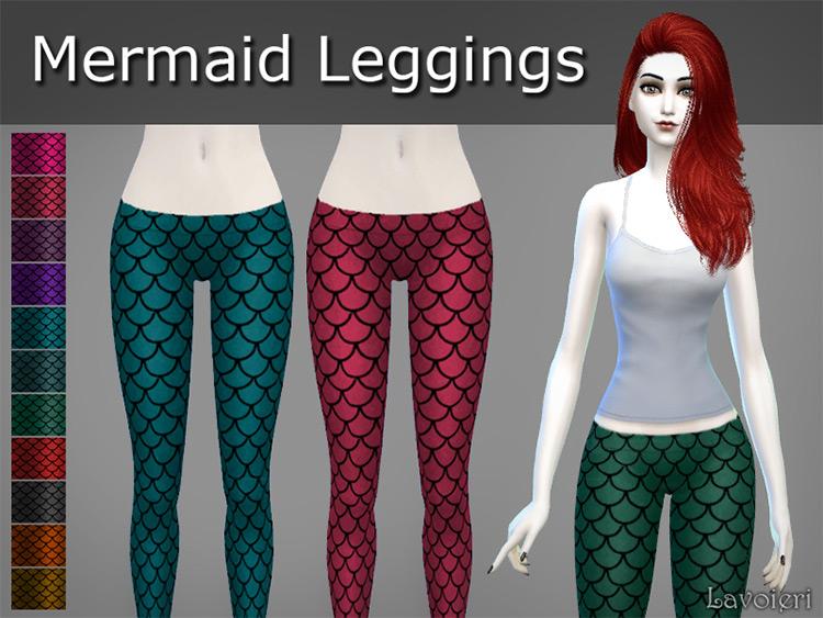 Mermaid Leggings CC for Sims 4