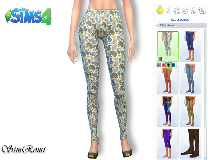 Stylish Pattern Leggings for The Sims 4