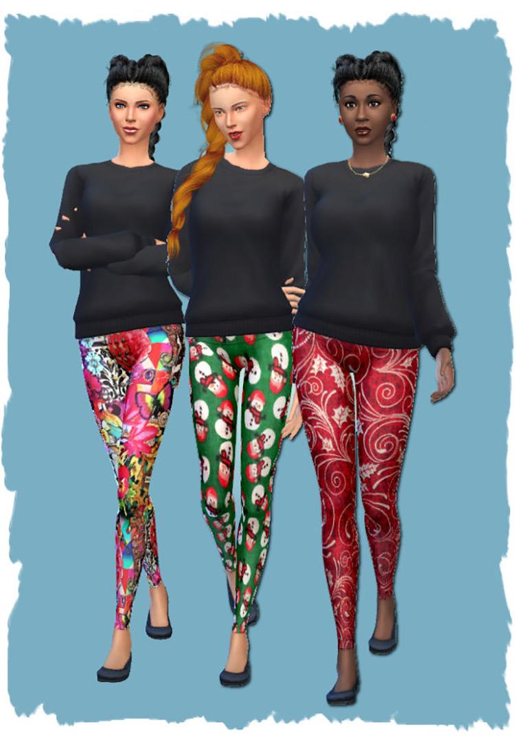Christmas Leggings / Sims 4 CC