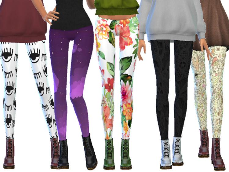 Tumblr-Themed Leggings Pack / TS4 CC