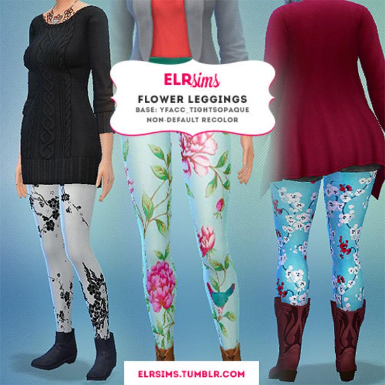 Flower Leggings CC for The Sims 4