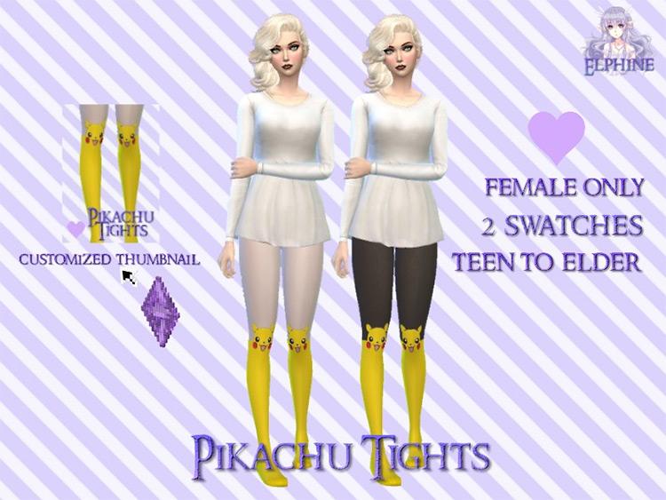 Pikachu Tights / Sims 4 CC