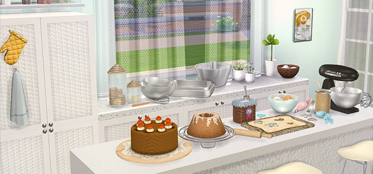 Kitchen Bakery Series CC for The Sims 4