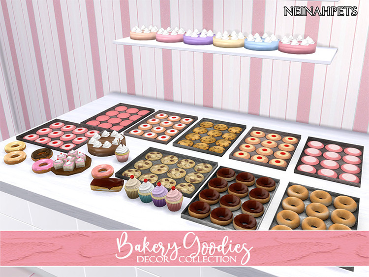Bakery Goodies Decor Collection for The Sims 4