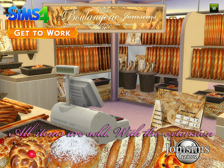 The Bakery 2015 CC Set for Sims 4