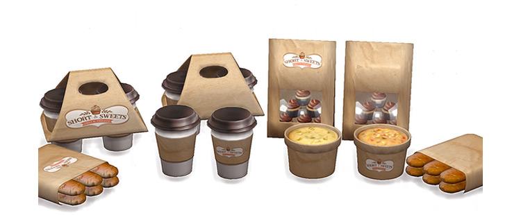 TS4 Paper Bakery Set / Sims 4 CC