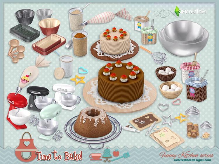 Funny Kitchen Series Baking / TS4 CC