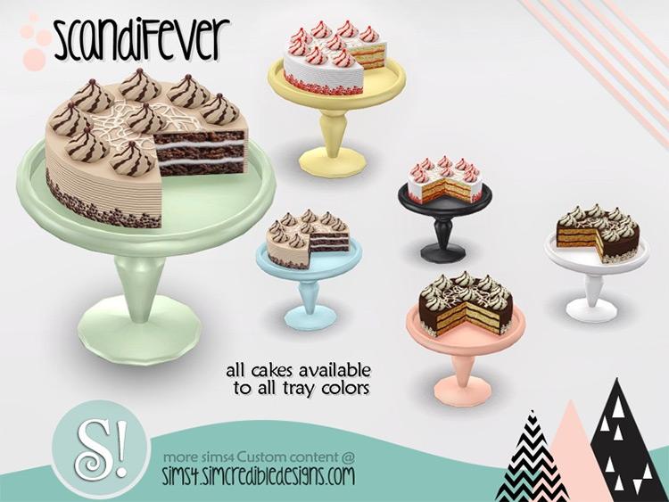 ScandiFever Cake / Sims 4 CC
