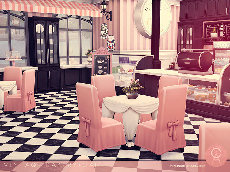 Vintage Bakery Lot for The Sims 4
