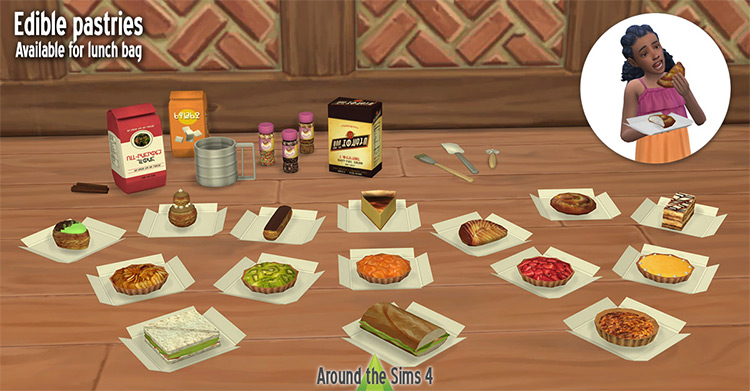 Edible Pastries Set / TS4 CC