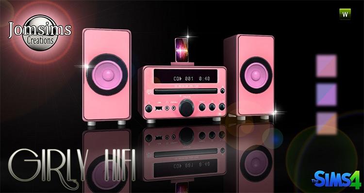 Girly HiFi Audio / Sims 4 CC
