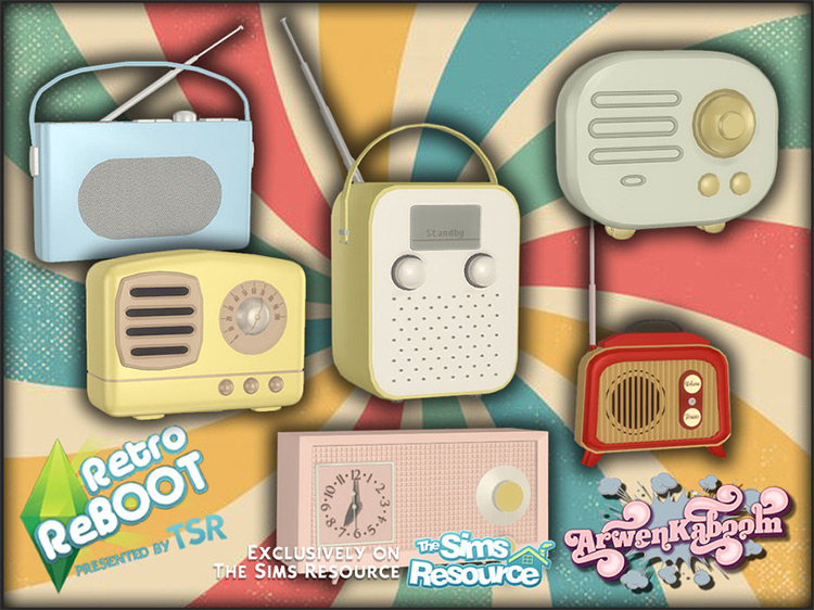 Retro Reboot Radios for The Sims 4