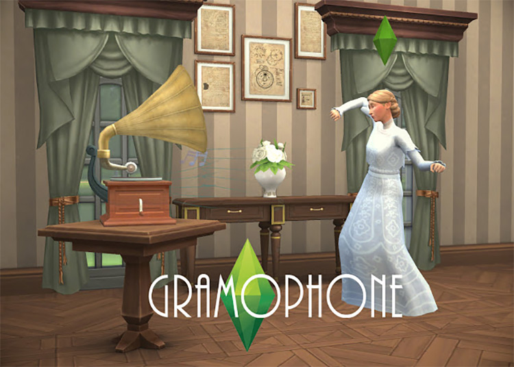 Old Timey Musical Gadgets / Sims 4 CC