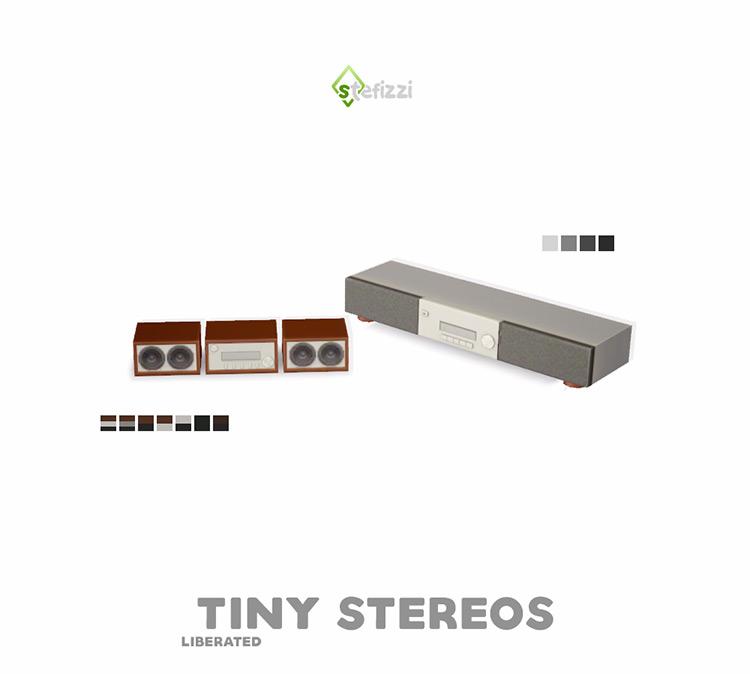 Tiny Stereos Set / Sims 4 CC