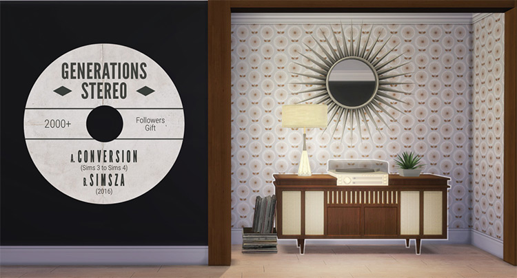 Sims 3 Generations Stereo converted for Sims 4