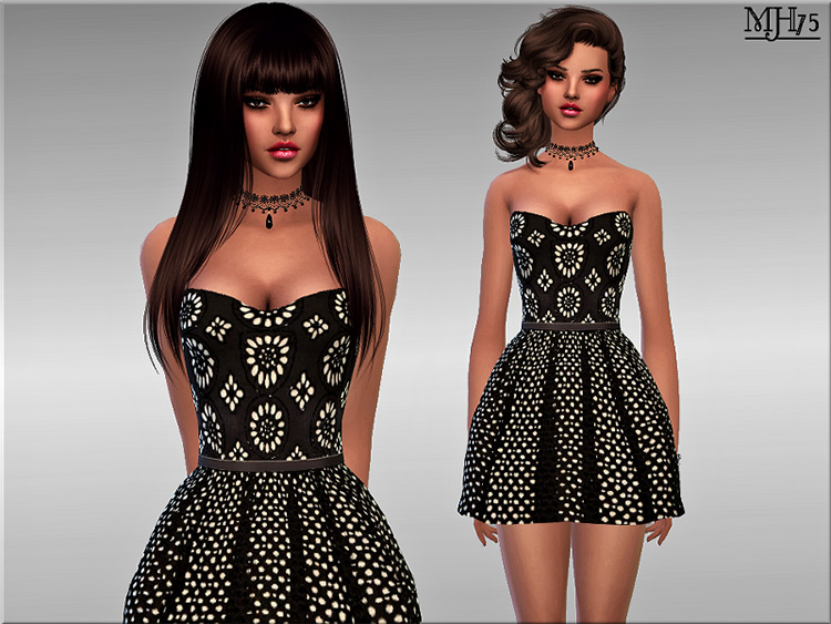 Sweet Desire Dress with Patterns / Sims 4 CC