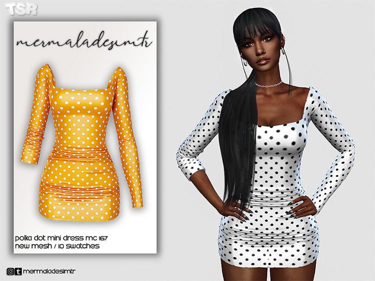 Polka Dot Mini Dress / TS4 CC