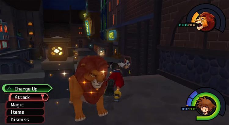 Simba Summon in KH 1.5 HD