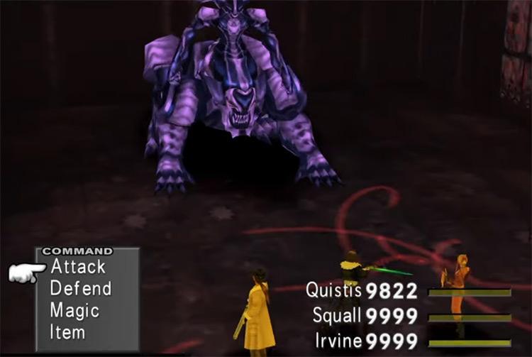 Omega Weapon boss in Final Fantasy 8