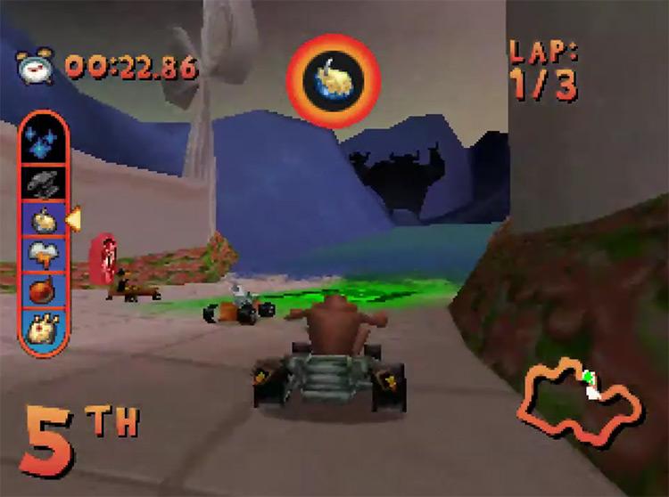 Looney Tunes Racing PSX gameplay