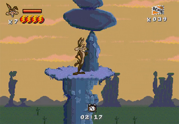 Desert Demolition Starring Road Runner and Will E. Coyote gameplay