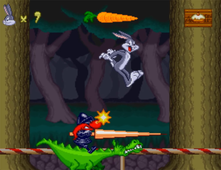 Bugs Bunny: Rabbit Rampage SNES game