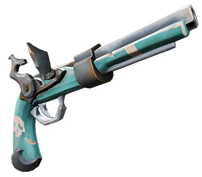 Rogue Sea Dog Pistol weapon render / Sea of Thieves