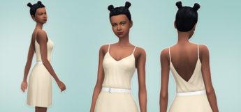 Open Back Light Dress for The Sims 4