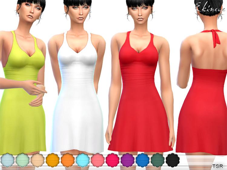 Halter Dress Open Back / Sims 4 CC