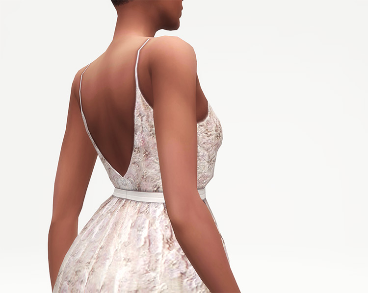 Embellished Tulle Gown / TS4 CC